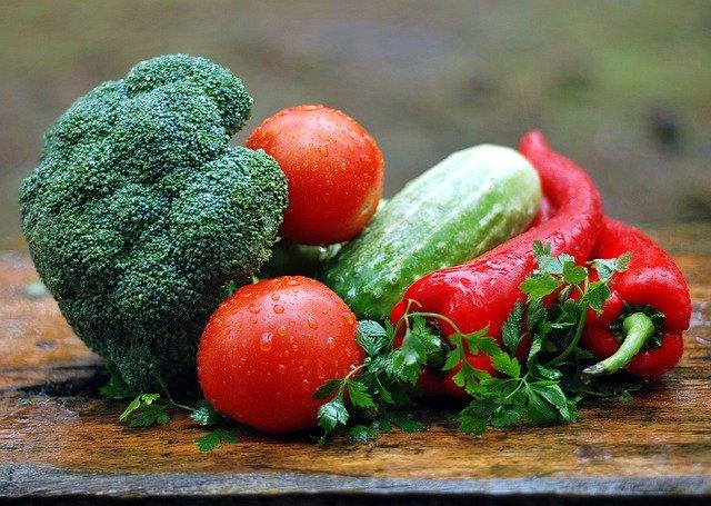 zmoklá zelenina