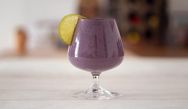 fialové smoothie