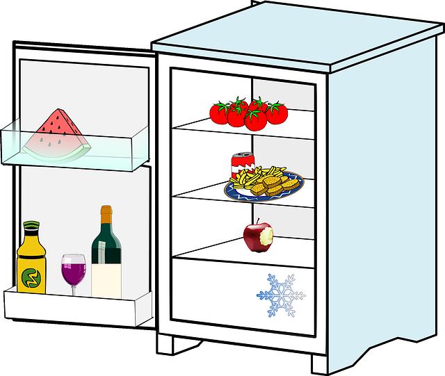 víno v lednici
