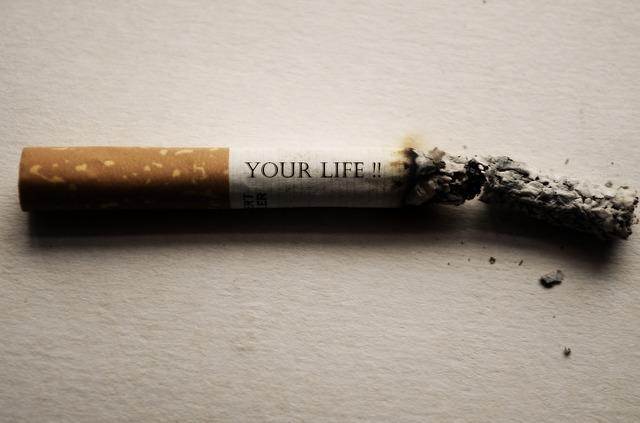 nápis na cigaretě
