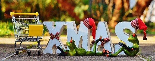 žáby na vánočním nákupu